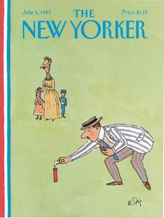 The New Yorker Cover - July 5, 1982 by William Steig
