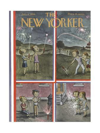 The New Yorker Cover - July 6, 1940 by William Steig
