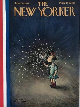 The New Yorker Cover - June 30, 1934 by William Steig