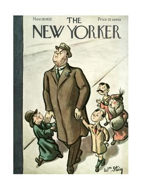 The New Yorker Cover - November 19, 1932 by William Steig
