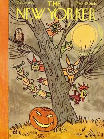 The New Yorker Cover - October 31, 1959 by William Steig