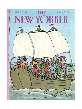 The New Yorker Cover - October 9, 1989 by William Steig