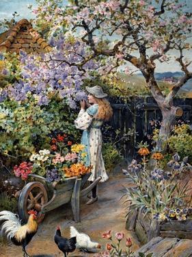 An English Cottage Garden by William Stephen Coleman