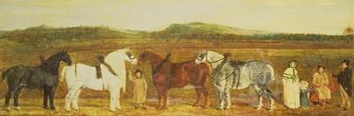 A Farmer with His Family, Farm Workers, and Four Shire Horses