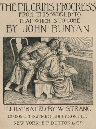 Bunyans Wife Reading the Bible to Him, C1916