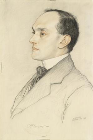 Portrait of Charles Francis Bell, 1913 (Coloured Crayons on a Pale Ochre Preparation)