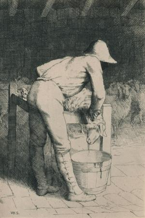 The Butcher and the Sheep, C1916