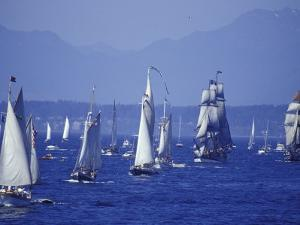 2002 Tall Ships Festival in Elliott Bay, Seattle, Washington, USA by William Sutton