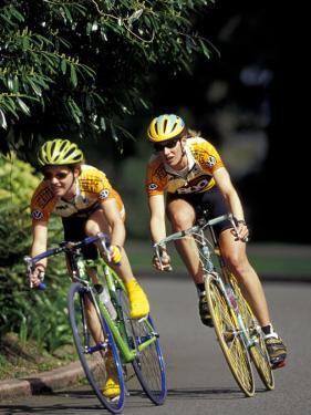 Bicycle Racers at Volunteer Park, Seattle, Washington, USA by William Sutton