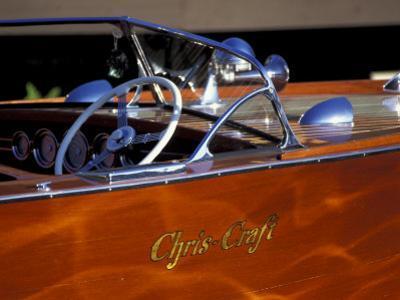 Chris Craft Classic Wooden Powerboat, Seattle Maritime Museum, Lake Union, Washington, USA by William Sutton