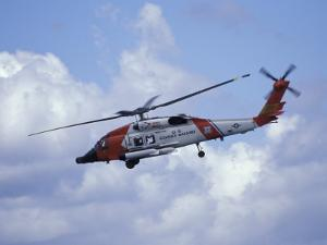 Coast Guard helicopter Demo at the Seattle Maritime Festival, Washington, USA by William Sutton