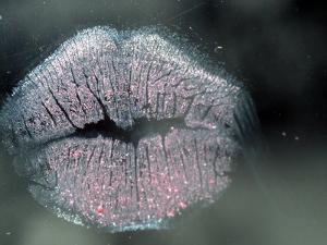 Lip Imprint on Window by William Sutton