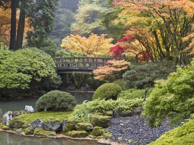 Moon Bridge, Portland Japanese Garden, Oregon, USA by William Sutton