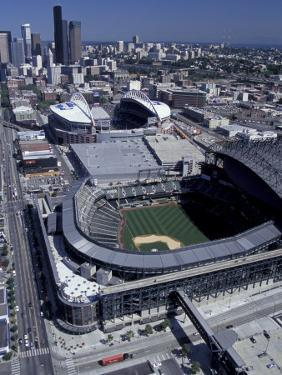 Safeco and Qwest Fields, Seattle, Washington, USA by William Sutton