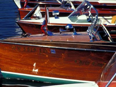 Vintage Wood Boats, Lake Union, Seattle, Washington, USA by William Sutton