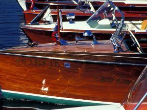 Vintage Wood Boats, Lake Union, Seattle, Washington, USA by William Sutton