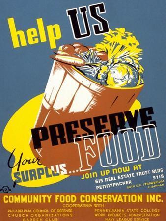 Help Us Preserve Your Surplus...Food