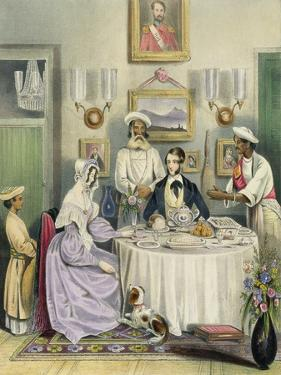 The Breakfast, Plate 3 from Anglo Indians, c.1842 by William Tayler