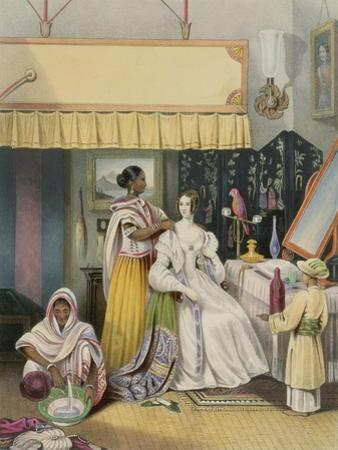 The Young Ladys Toilet, Plate 2 from Anglo Indians, Engraved by J. Bouvier, c.1842