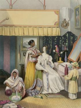 The Young Ladys Toilet, Plate 2 from Anglo Indians, Engraved by J. Bouvier, c.1842 by William Tayler