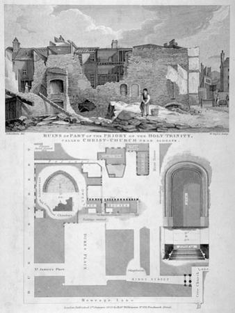 Holy Trinity Priory, City of London, 1826