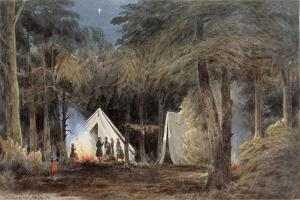 Encampment of Duryea's Zouaves, Virginia, 1862 by William the Younger MacIlvaine