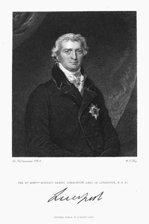 Robert Banks Jenkinson, Earl of Liverpool, British Statesman, 1830