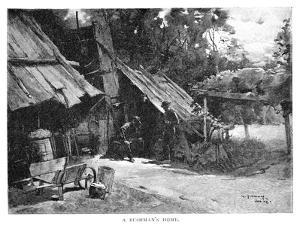 A Bushman's Home, Australia, 1886 by William Thomas Smedley