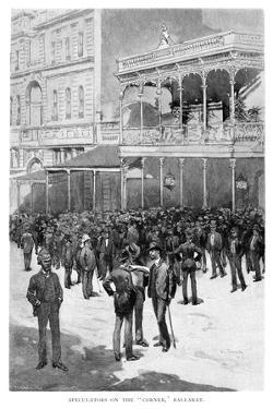 Speculators on the Corner, Ballarat, Australia, 1886 by William Thomas Smedley