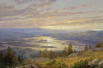 Lake Squam from Red Hill, 1874 by William Trost Richards