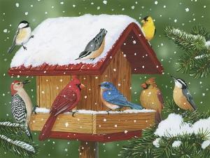 Backyard Birds, Holiday Treats by William Vanderdasson