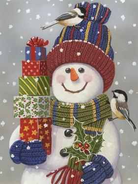 Snowman with Presents by William Vanderdasson