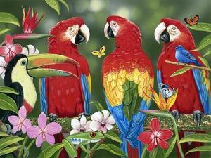 Tropical Friends by William Vanderdasson