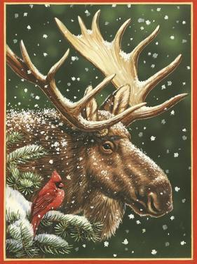 Winter Moose by William Vanderdasson