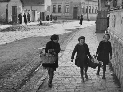 A View of Jewish Children Walking Through the Streets of their Ghetto by William Vandivert