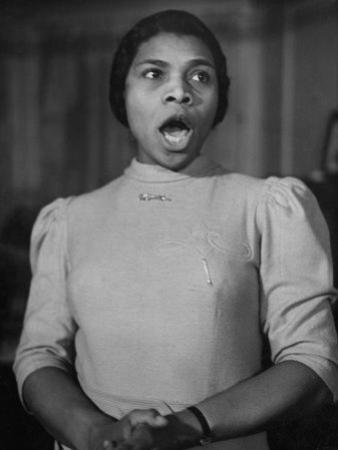 African American Singer Marian Anderson Rehearsing by William Vandivert