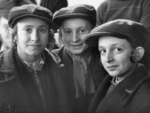 Jewish Children Posing for a Picture by William Vandivert