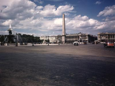Place de La Concorde with the Ancient Obelisk, Showing Hotel Crillon and the Ministry of the Navy by William Vandivert