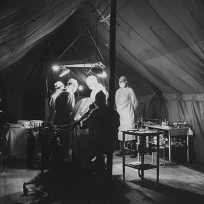 Surgeons Operating on Patient at Casualty Clearing Station by William Vandivert