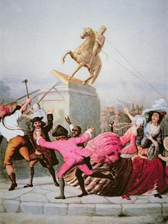 New York Patriots Pull Down the Statue of George Iii at Bowling Green, 9th July 1776, 1854 by William Walcutt