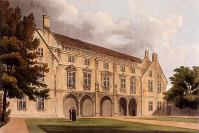 Exterior of Magdalene College Library, Cambridge, from 'The History of Cambridge', Engraved by…