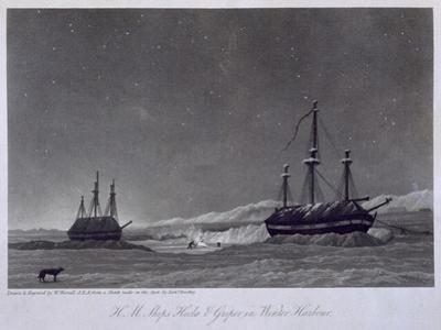 H.M. Ships Hecla and Griper in Winter Harbour, Journal of a Voyage, W.E. Parry, c.1821