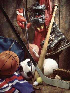 Variety of Sports Equipment by William Whitehurst