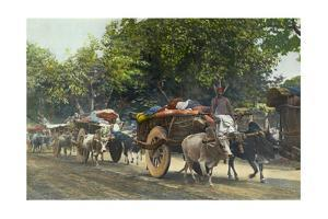 People Arrive to Town with Full Wagons for the Market by William Wisner Chapin