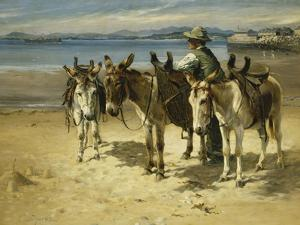 On the Sands, Morecombe by William Woodhouse