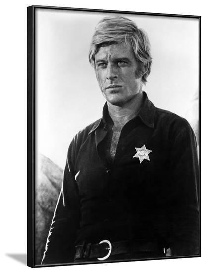 Willie Boy Tell Them Willie Boy Is Here by Abraham Polonsky with Robert Redford, 1969 (b/w photo)--Framed Photo