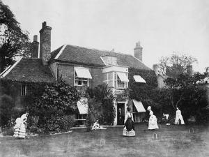 Croquet on the Lawn at Elm Lodge, Streatley, C.1870s by Willoughby Wallace Hooper