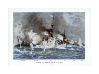 Battle of Santiago De Cuba, 3 July 1898