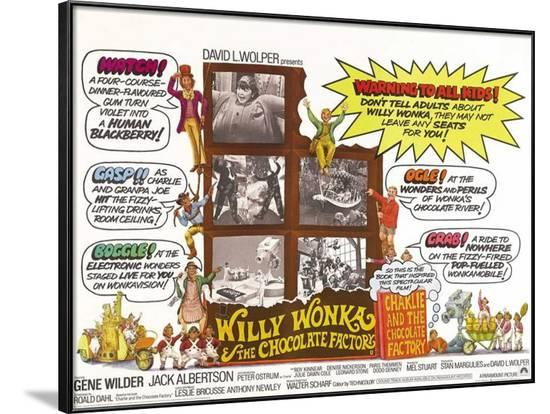 Willy Wonka and the Chocolate Factory--Framed Poster