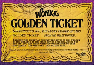 Willy Wonka - Golden Ticket